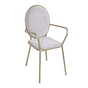 CN Nordische Art Goldene Retro-Schönheit Stuhl Zurück Stuhl Dessert Shop Stuhl Eisen Kunst Café Westlichen Restaurant Tisch Und Stuhl,Grau,Einheitsgröße