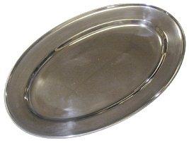 Metaltex 690703 Platter Ovale 35cm, Acier Inoxydable, Argent, 28 cm