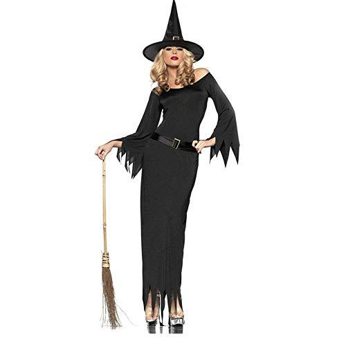 FrebAfOS Rollenspiele, Hexe Spiel Halloween Role Playing Uniform, Hexe Hexenkostüm, Diskothek Ds Kostüm, M, Medium