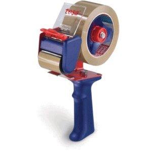 Tesa ruban adhésif tesapack packbandabroller economy pour ruban adhésif 50 mm x 66 m rouge/bleu