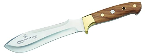 Puma IP Jagdmesser White Hunter 240, Stahl 1.4125, Olivenholz-Griffschalen, Messingbacken, braune...