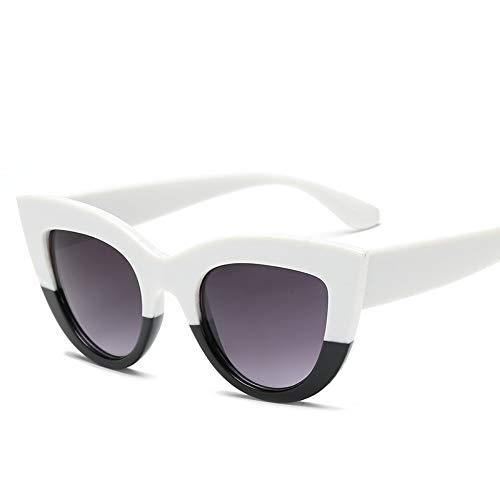 WDDYYBF Sonnenbrillen Owl City Cat Eye Sonnenbrille Frauen Vintage Damen Sonnenbrille Retro Sonnenbrillen Weiblichen Pink Mirror Eyewear Uv400