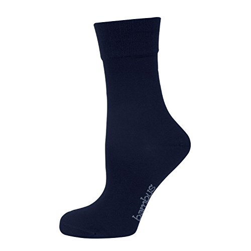 NUR DIE 3 Paar Damen Bambus Komfort Socke Viskose (aus Bambus-Zellstoff) Gr. 39-42 maritim