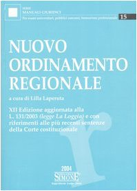 Nuovo ordinamento regionale