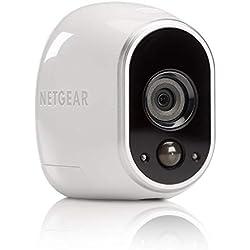 Arlo VMC3030-100EUS Caméra Additionnelle HD Jour/Nuit Etanche IP65 Intérieur/Extérieur Fixation Aimantée Stockage Gratuit dans le Cloud Compatible avec Systèmes Arlo, Arlo Pro et Arlo Pro 2