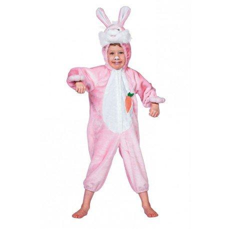 Kinder-Overall 'rosa Häschen', Gr.104 (Zauberer Häschen Kostüm)