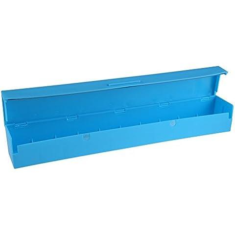Dealglad® Blu In Plastica Alimentare Wrap Cling Film Dispenser alluminio cera taglierina