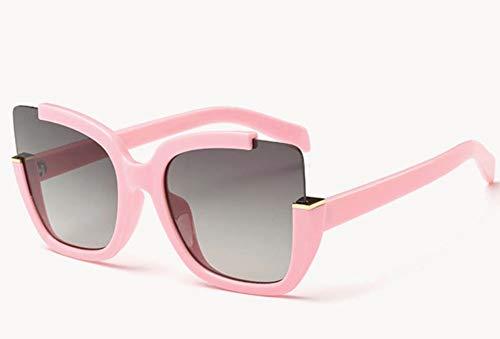 WSKPE Sonnenbrille Sonnenbrille Frauen Brillen Zubehör Form Halber Frame Fahren Gläser Uv 400 Rosa Rahmen Graue Linse