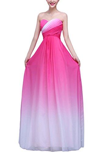 Bridal_Mall - Robe - Trapèze - Femme Multicolore Multicolore Rouge