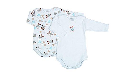 BabyVip - Body Niño Niña Bebé Manga Larga 100% Algodón Caliente Pa