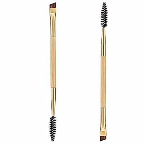 Kolylong 1PCS Maquillage Bambou PoignéE Double Sourcils Brosse + Peigne Sourcils (01)