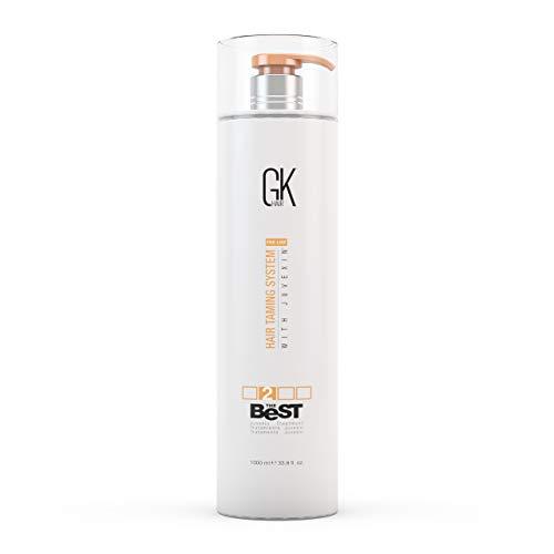 Global Keratin GKhair Il miglior trattamento professionale per capelli liscianti e leviganti alla cheratina (1000 ml / 33.8 fl.oz) per capelli naturali e setosi