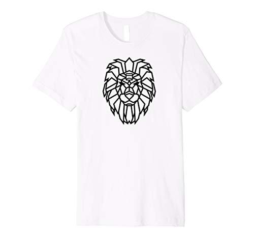 Glasmates 'Leos-Spirit (Black)' Geometrischer Löwe T-Shirt