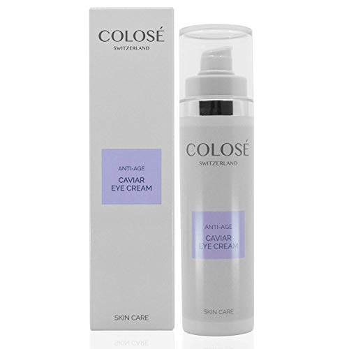 Colosé ® Caviar Eye Cream/Anti Aging eye crème/Augenpflege/Anti Falten Augen crème mit Kaviar/repair eye lifting crème/anti wrinkle augencreme/Made in Switzerland - Caviar Repair Creme