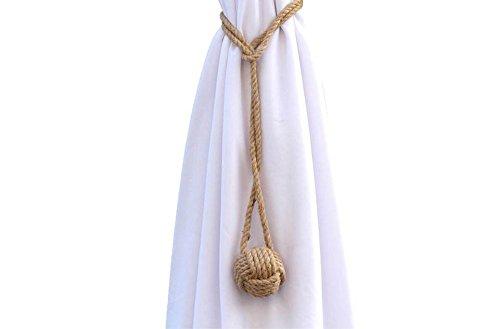 Coppia di corde in juta, per tende, stile marino, per decorazioni da mare, spiaggia