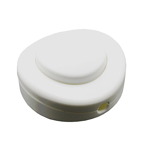 Soporte Pedal Interruptor color Blanco Diámetro 65x 30250V/2A para cable redondo Interruptor...