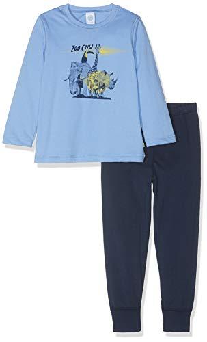 Sanetta Jungen Zweiteiliger Schlafanzug Pyjama Long Blau (Blue Sea 5673) 128 -