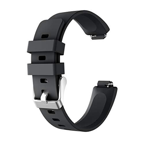 Knowin Uhrenarmband Damen Herren Sport Silikon Armband für Fitbit Inspire/Inspire HR Unisex Ersatzarmband Fitness Tracker Band in Grau, Braun, Hot Pink, Mintgrün, Navy, Rot, Weiß -