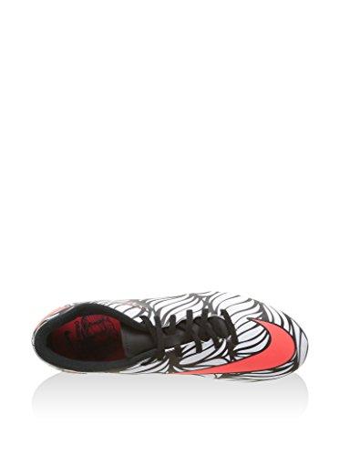 Nike Hypervenom Phade Ii Njr Fg, Chaussures de Football Homme Multicolore - Negro / Blanco (Black / Bright Crimson-White)
