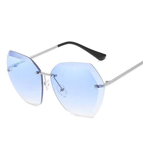 LYXLQ Metall Sonnenbrille, Marine Stück rahmenlose Trimmen Damen Sonnenbrille, für Outdoor-Sportarten Fahren,A