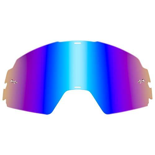 O'Neal Ersatz Scheibe B-20 Goggle Linse Anti Beschlag Polycarbonat MX Kratzfest Brille, 6023-9, Farbe Radium Blau