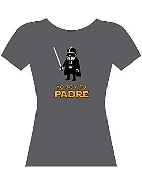 YO SOY TU PADRE - camiseta - CHICA - STAR WARS - darth vader - GAMBA TARONJA