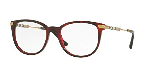 BURBERRY Damen 0BE 2255Q 3657 53 Sonnenbrille, Rot (Top Havana On Bordeaux),