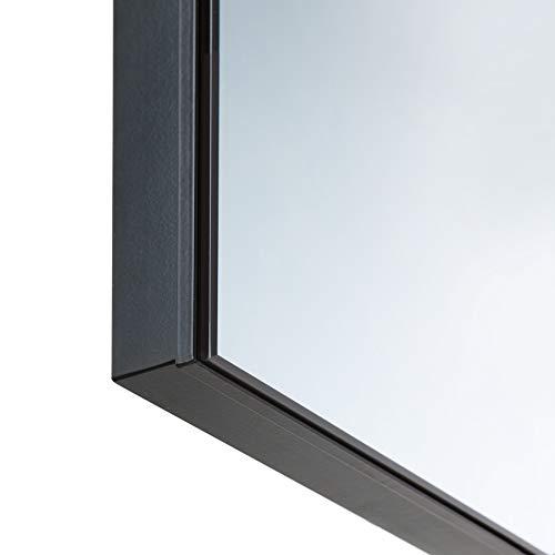 TecTake Spiegel Infrarotheizung Spiegelheizung ESG Glas Elektroheizung Infrarot Heizkörper Heizung inkl. Wandhalterung – diverse Modelle – (700 W | 93x62x4 cm | Nr. 402466) Bild 4*