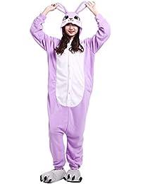 Pijama Animados Kigurumi Cosplay Conejo Animal para Adulto Unisex