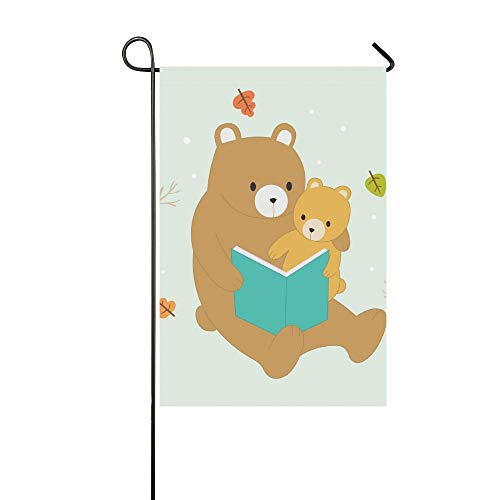Kostüm Baby Braunbär - JOCHUAN Wohnkultur Cartoon Nette Braunbären Mutter Baby Garten Flaghouse Yard Flaggarden Yard Decorationsseasonal Willkommen Outdoor Flagge 12X18 Zoll