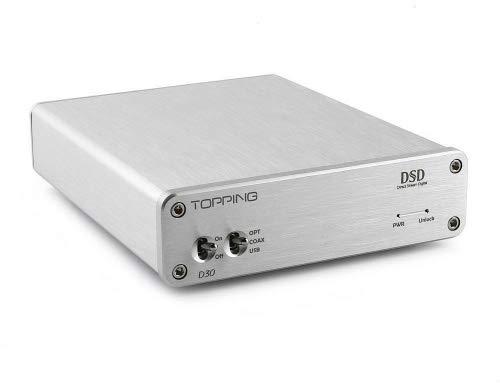 TOPPING D30 DSD Audio Decoder USB koaxiale optische Faser XMOS CS4398 24 Bit 192KHz unterstützt USB, Koaxial- und optische Faser