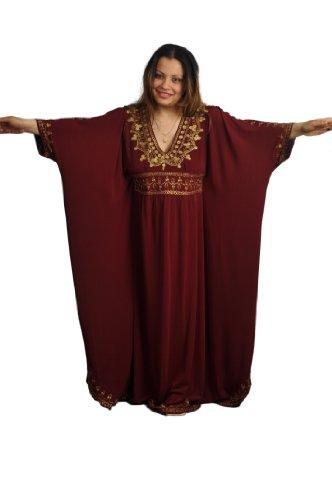 M bis 3XL Damen Kaftan Kleid im Oriental Style Einheitsgröße