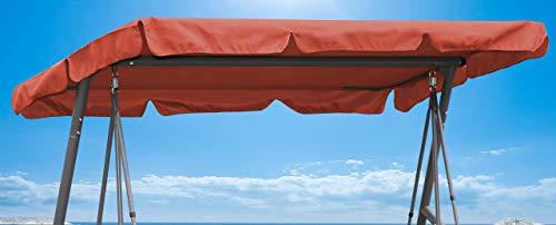 QUICK STAR Ersatzdach Gartenschaukel Universal Hollywoodschaukel 3 Sitzer Terra UV 50 Ersatz Bezug Sonnendach Schaukel Dach -
