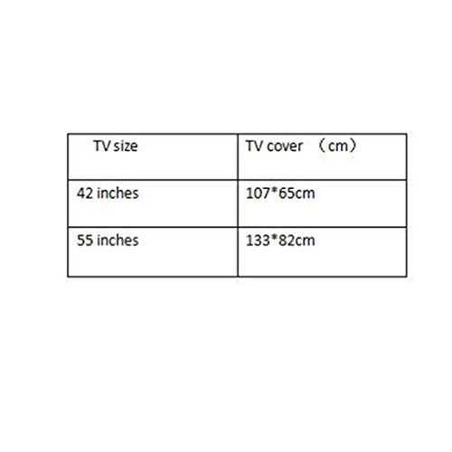 Wall Hanging Liquid Crystal TV Cover Hanging TV Cover Cloth 42 55 Inch Dust Cover   42 inches   b