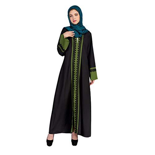 FeiliandaJJ Damen Langarm Trompete Ärmel Sommer Muslimische Kleider Frauen Mittlerer Osten Saudi Arabische Robe Abaya Länge Kleid Muslim Dresses (L, - Saudi Arabische Kostüm Frauen