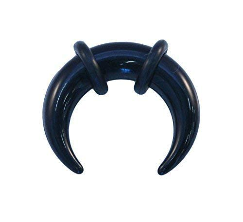 Vault 101 Limited Schwarz Acryl Ohr oder Septum Gedehnt Pincher Bänder Buffalo Bull Horn Gekrümmter Bänder - 5mm
