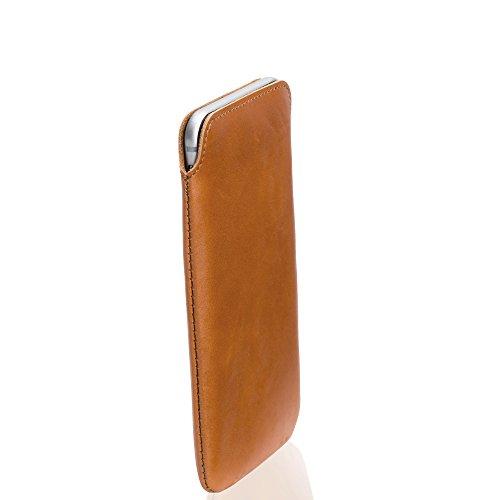 KD-Essentials-iPhone-6-Echt-Ledertasche-Cognac-Rotbraun-Slimdesign