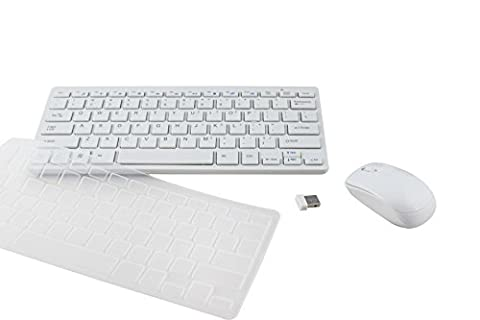 INNORI Ultra Thin Fashion Weiß Wireless Keyboard & 2,4 GHz Wireless Optical Mouse Set für PC