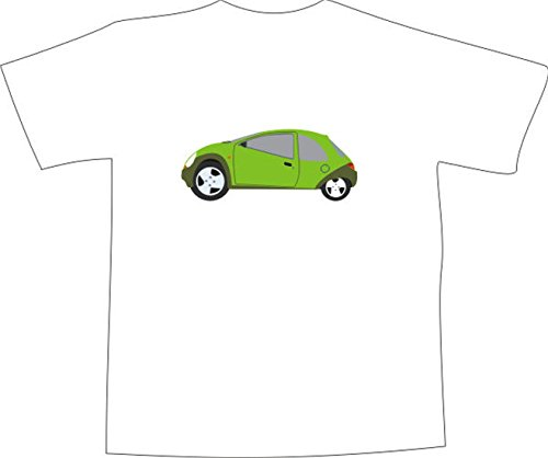 T-Shirt E190 Schönes T-Shirt mit farbigem Brustaufdruck - Logo / Grafik ...