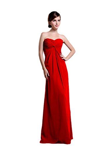 Bridal_Mall - Robe - Sans Manche - Femme Rouge - Rouge