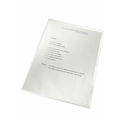 hülle Recycel, A4, PP, genarbt, dokumentenecht, 100 Stück, farblos ()