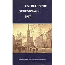 Ostdeutsche Gedenktage. Persönlichkeiten und historische Ereignisse