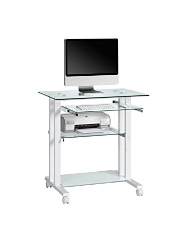 Get Maja 16509799 Computer Desk 800 x 837 x 510 mm White Metal/Glass on Line