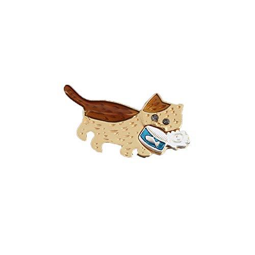 ZQword Schöne freche Kitty Kostüm Brosche für Geschenk atemberaubende Qualität niedliche Katze Dose - Piraten Kitty Kostüm