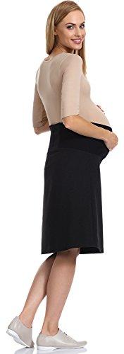 Be Mammy Damen Umstandsrock GX203 Schwarz