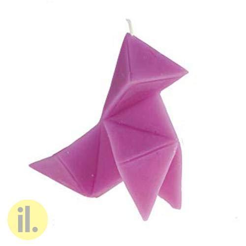 il-lumina Vela Pajarita Color Lila de Cera Natural Referencia 024-3-421