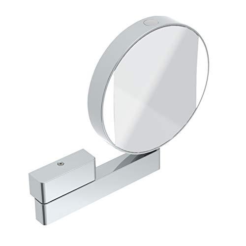 Emco Kosmetikspiegel rund, mit Beleuchtung, mit Gelenkarm, 3-fach und 7-fach vergrößert, Spiegel beidseitig - 109506017