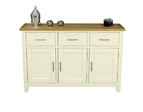 Nebraska Painted Oak Large Sideboard/Cream 3 Door 3 for sale  Delivered anywhere in UK
