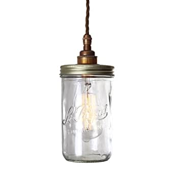 Pendantlighting Jam Jar Pendant Light Amazoncouk Lighting
