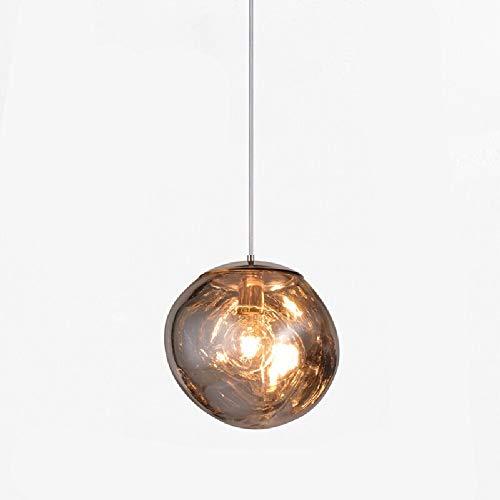 Wylolik Persönlichkeit Kreative Coole Kronleuchter Lava Unregelmäßige Chrom Hängen Deckenleuchten Kücheninsel Dekoration Poliertem Glas Pendelleuchte Geschäftsviertel Shop Spiegel Ball Lampe Umgebungs -